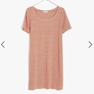 NWT Madewell Swingy Tee Dress in Stripe